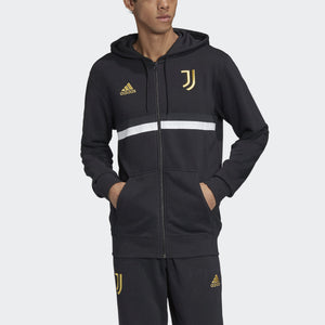 Men's adidas Juventus 3-Stripes Full-Zip Hoodie