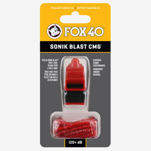 Fox 40 Sonik Blast CMG Whistle with Breakaway Lanyard