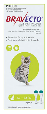 Bravecto Spot-On for Cats – Flea and Tick Treatment