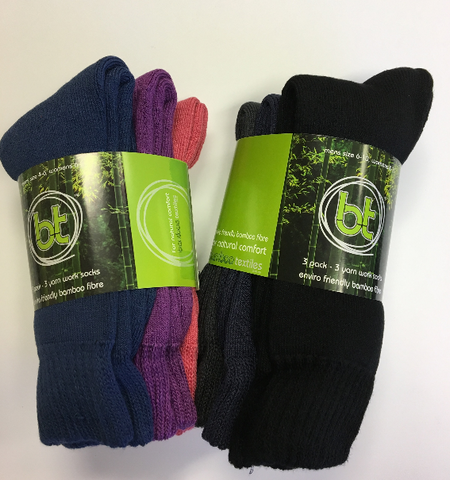 BAMBOO- 3-Pack 3-Yarn Work Socks