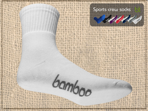 Bamboo Sports Crew Socks