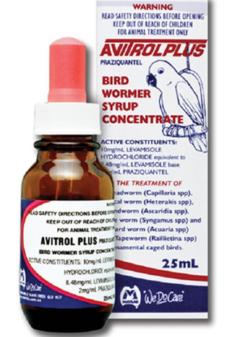 Fido's Avitrol Plus Bird Worm Syrup 25ml