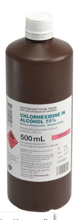 Chlorhexdine 0.5% in Alcohol 70% 500ml