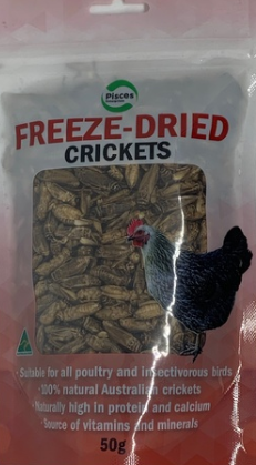 Pisces Freezedried Crickets Poultry 50g