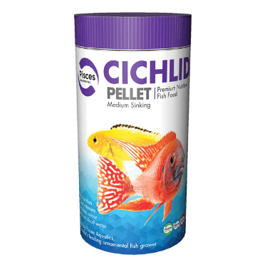 Pisces Cichlid Pellet Medium 140gm Single