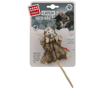 Gigwi Catch Scratch Mouse w/ Catnip