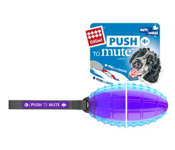 GiGiwi Rugby Ball Push to Mute Trans Purple/Blue