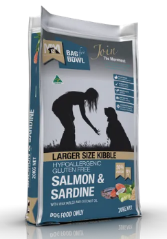 Meals For Mutts Dog Salmon Sardine Gluten Free LARGE KIBBLE 20kg