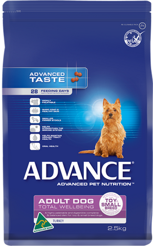 Advance Dog Total Wellbeing Small Breed Turkey & Rice
