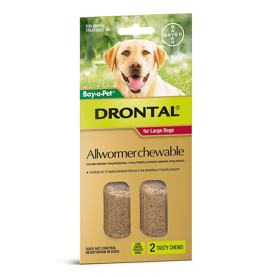 Drontal  Wormer Chewables - Large dogs