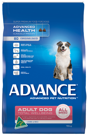 Advance Dog Total Wellbeing All Breed Lamb and Rice
