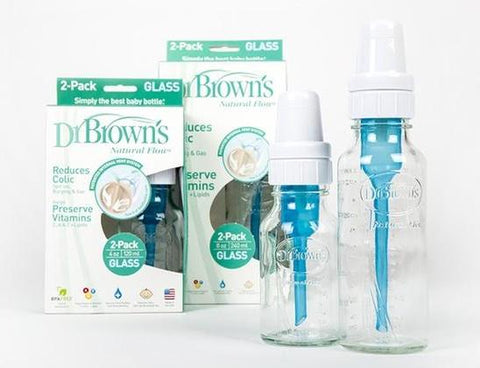 Dr Brown's Narrow Neck Glass Bottles