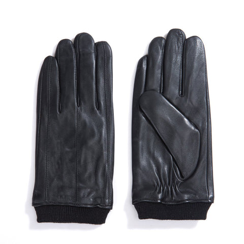 men winter leather gloves
