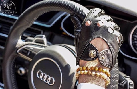 men driving leather gloves