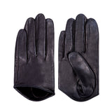 [MATSU X AMAZON] Women Lambskin Half-Palm Leather Driving Gloves Unlined M9248