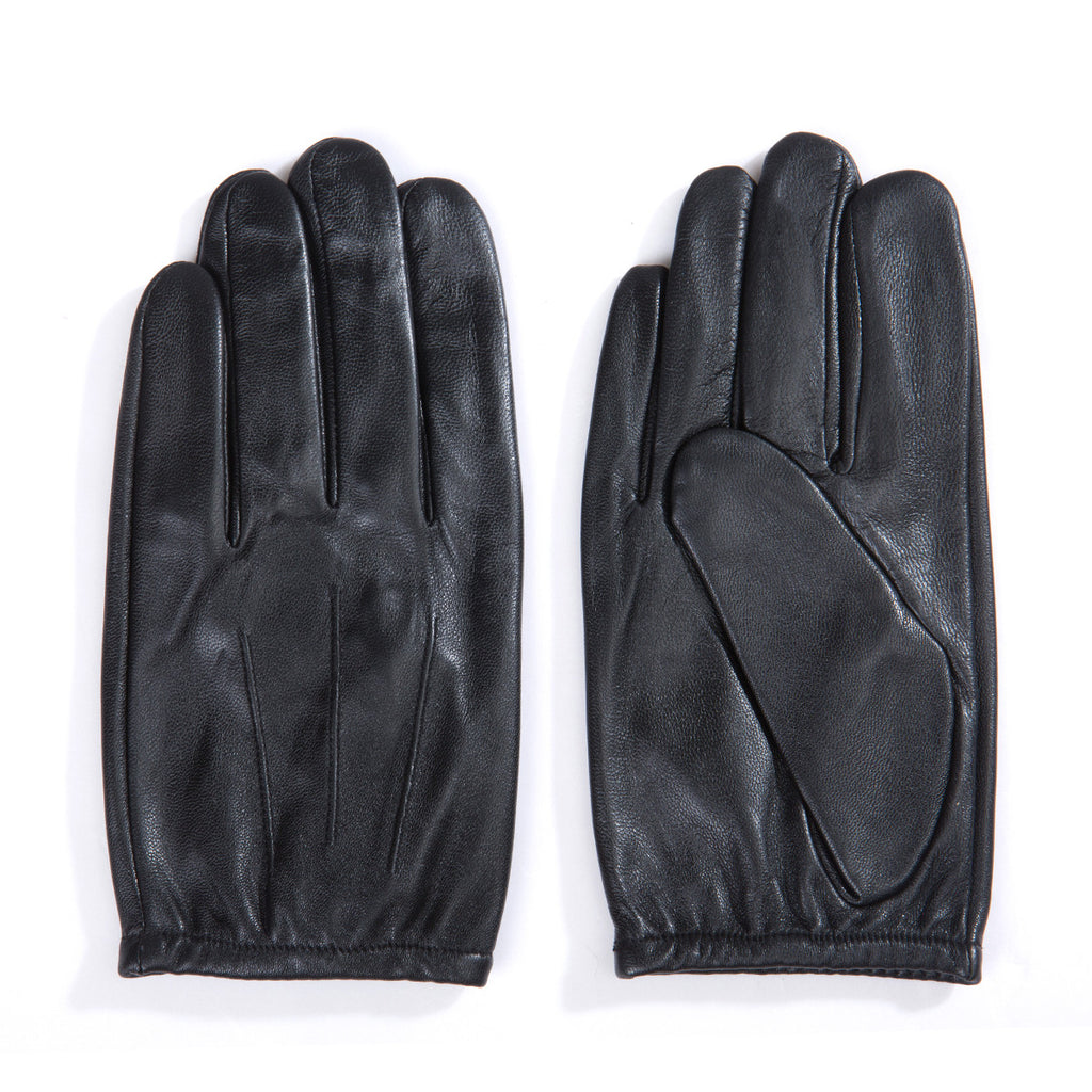 [Matsu Custom Made]  Lambskin Men Driving Short Leather Gloves Nylon