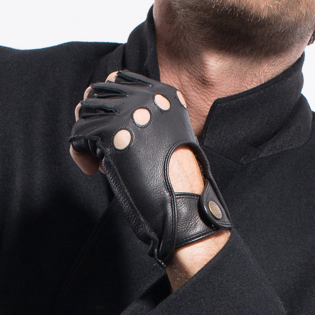Leather gloves mens amazon -  Matsu X Amazon Men Deerskin Fingerless Driving Leather Gloves Unlined M1076