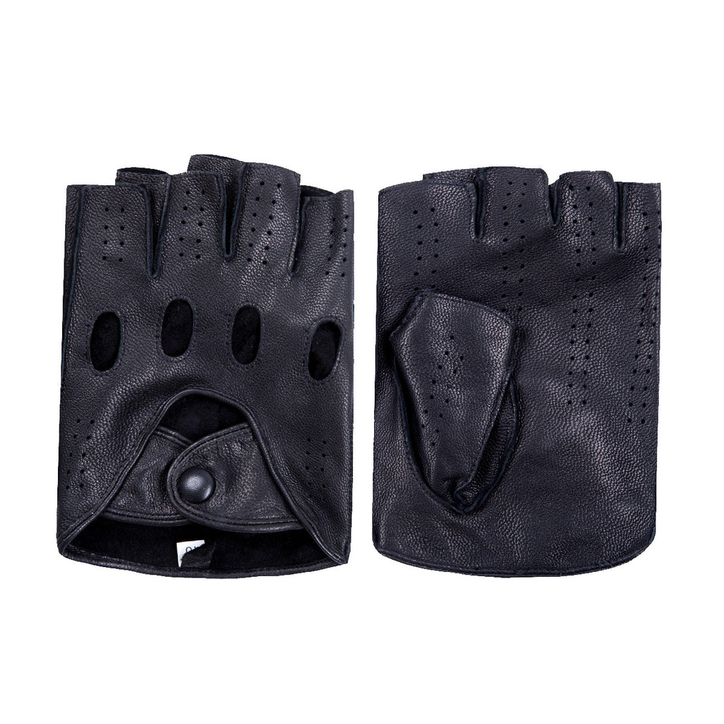 [MATSU X AMAZON] Women Lambskin Driving Fingerless Leather Gloves Unlined M9407