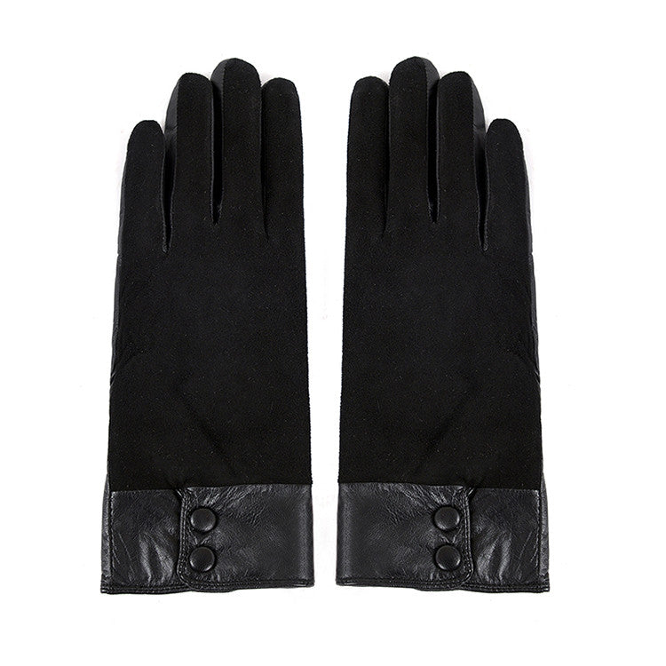 Women Lambskin winter warm Leather Gloves m9255