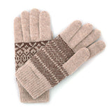 Women Wool Knit Mitten Winter Warm Gloves Hand Warmer GCG256