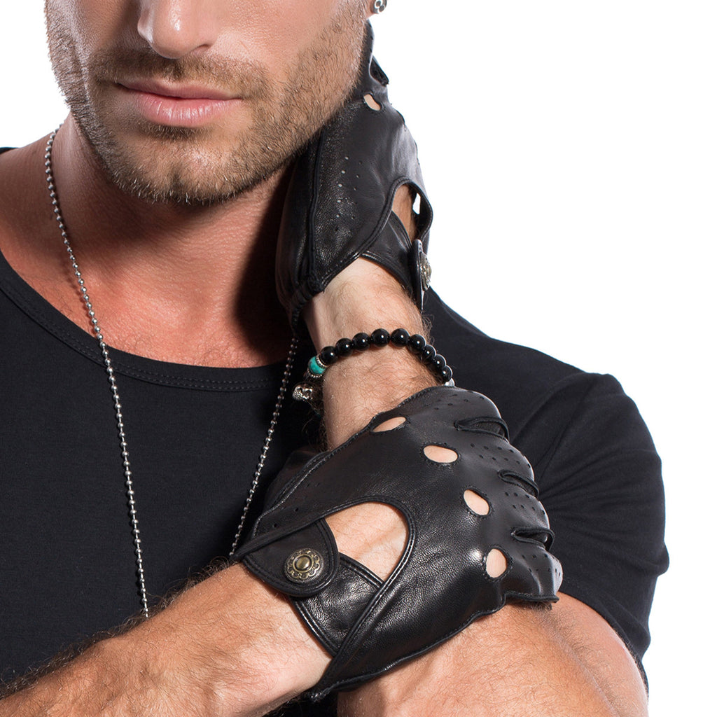 Leather gloves mens amazon -  Matsu X Amazon Men Lambskin Driving Leather Gloves Unlined M1047