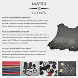 [Matsu Custom Made] Lambskin Men winter Leather Gloves M1811
