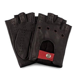[Matsu Custom Made] Lambskin Fingerless Driving Leather Gloves Unlined