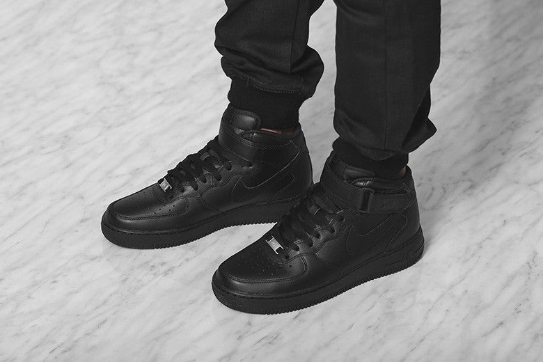 26323cdf8fcb Nike Air Force 1 Mid  07 Triple Black – Culture Kings