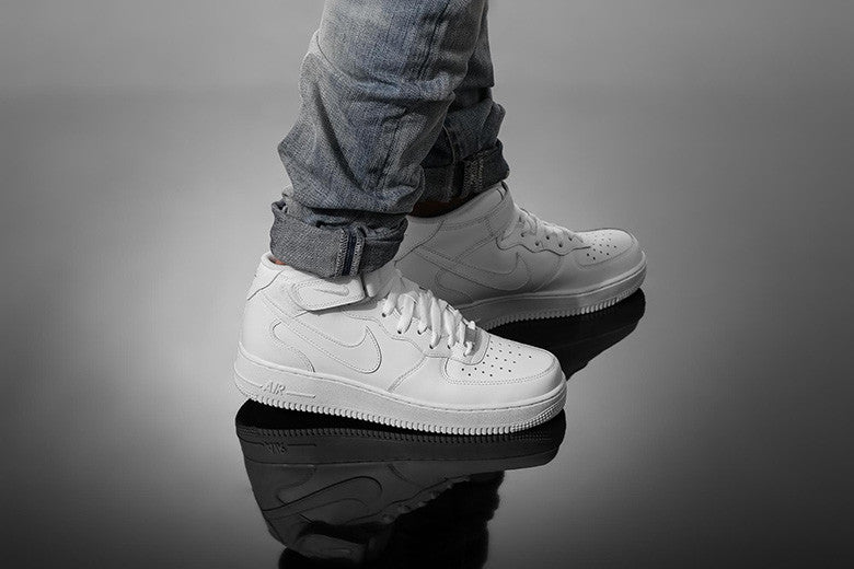 9aeab98c9f12 Nike Air Force 1 Mid  07 Triple White – Culture Kings