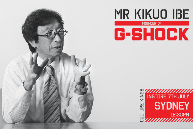 G-SHOCK'S Founding Father, MR Kikuo Ibe, To Hit Culture Kings Sydney