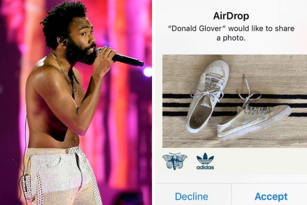 Gambino Randomly AirDropped People His New Adidas Sneaks