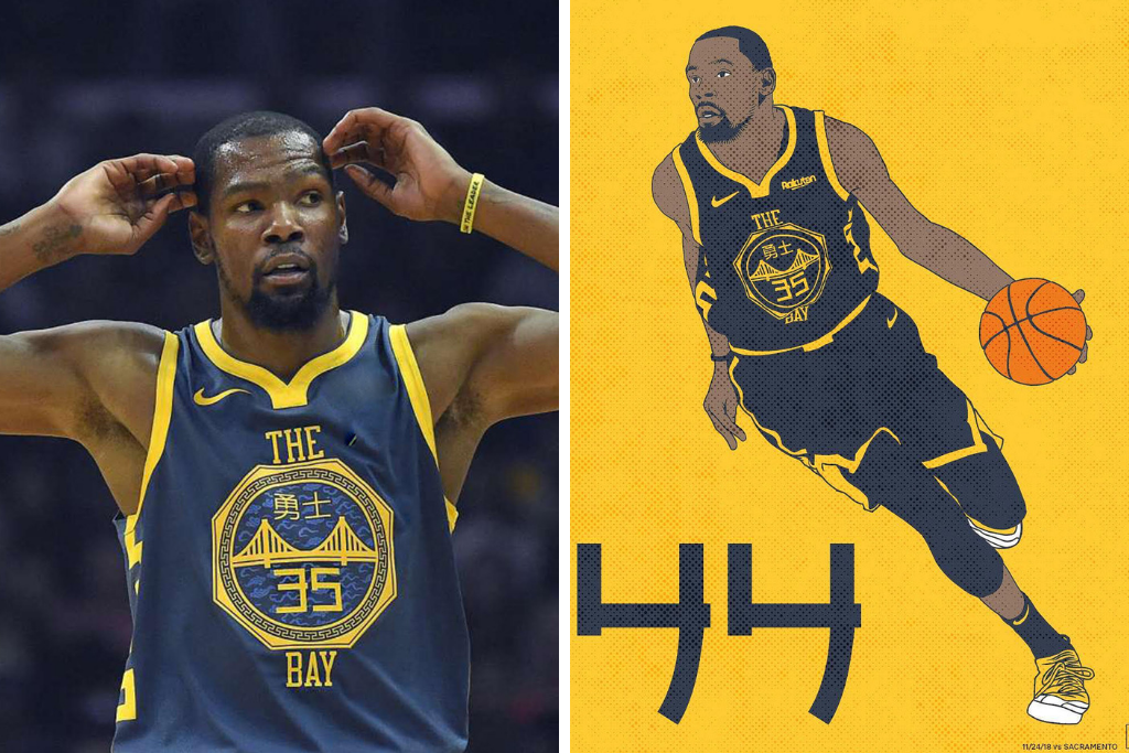 Get On The Kevin Durant City Edition Warriors Jersey