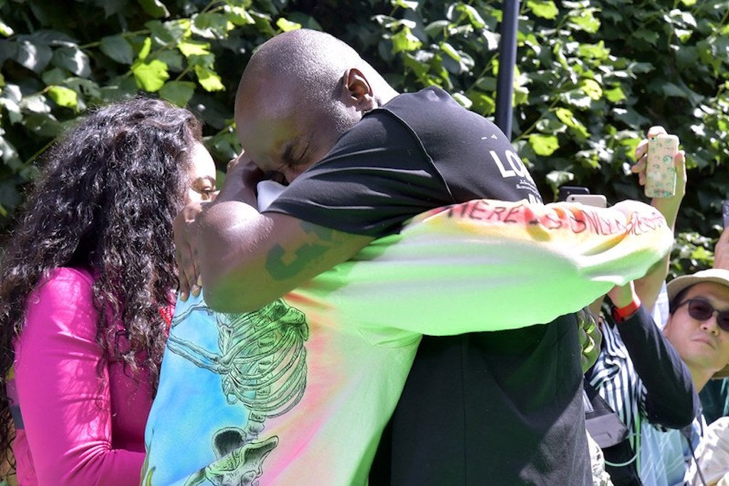 7c50e207b6e2 Kanye West   Virgil Abloh Cry   Hug In Emotional Reunion – Culture Kings