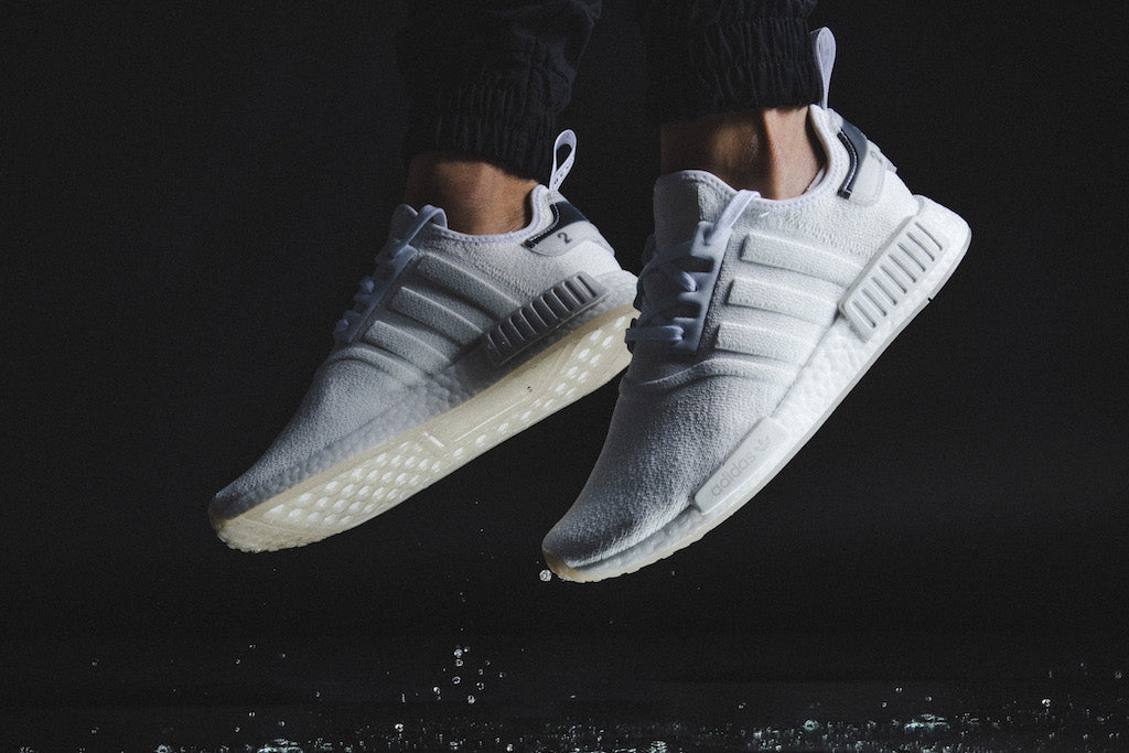 Adidas' NMD R1 in White/White Are Cleeeean