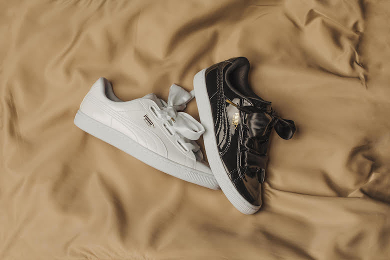 buy popular e1dbb 2a480 Puma Basket Heart Patent In Black And White Stole Our Hearts ...