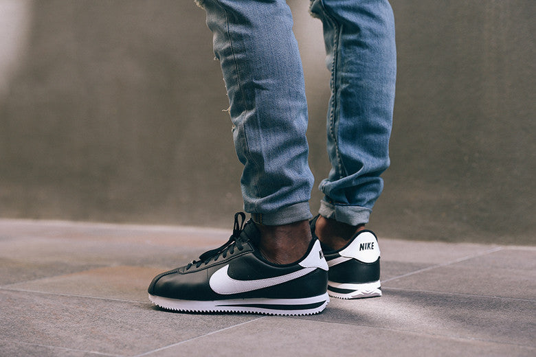 Nike Cortez Basic Leather Black/White