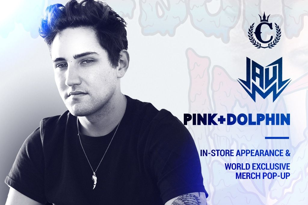 Bass House King Jauz Appearing In-Store With New Pink+Dolphin Merch Drop!