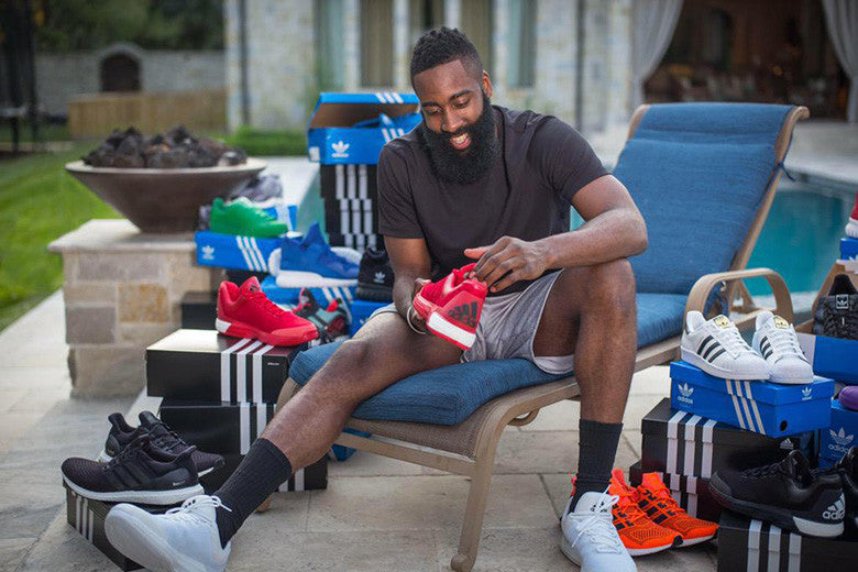 adidas Welcomes James Harden with a Truckload of Sneakers