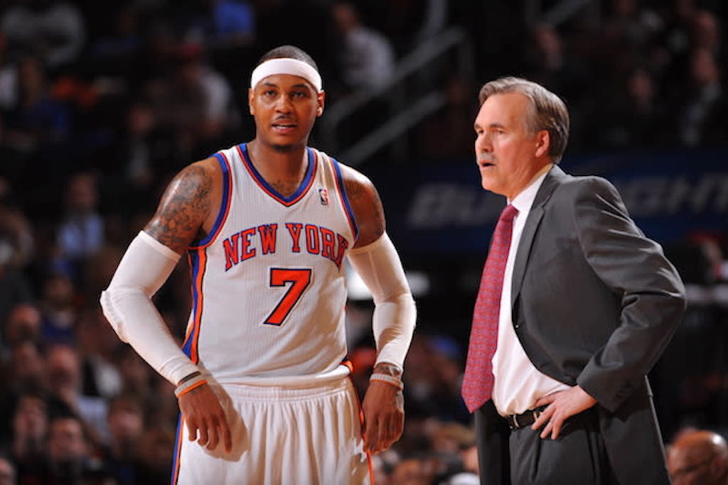 Mike D'Antoni Won't Commit To Carmelo Anthony Starting