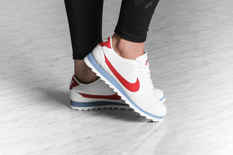 nike platform sneakers red white blue