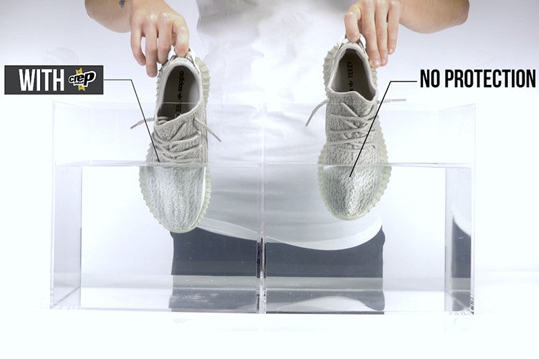 Yeezy Moonrock With Crep Protection And Without