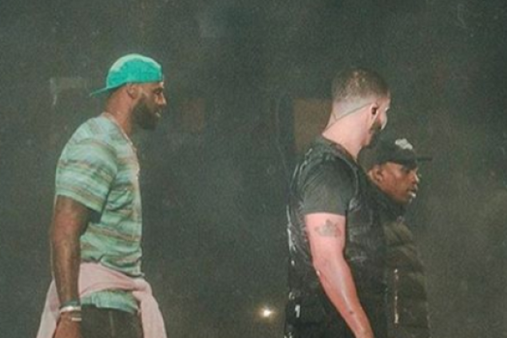 87146a4d6df0 Drake Brings LeBron & Travis Scott On Stage During Concert – Culture ...