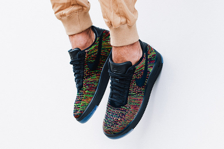 Nike Air Force 1 Flyknit Low Black/Multi-colour
