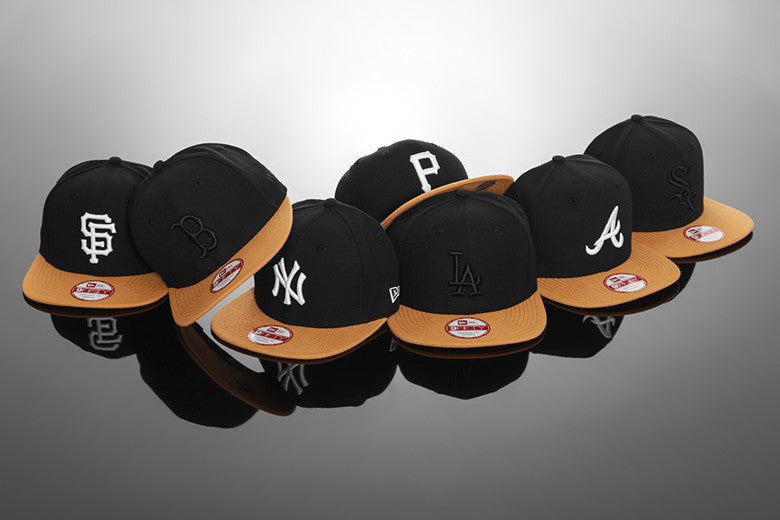 New Era Original Fit Black/Tan Snapback Range