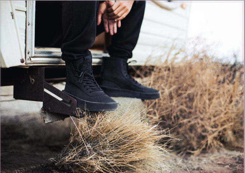 1966d4b45fc152 The most anticipated item from this collaboration is the triple black Puma  XO Parallel. Made with premium Italian nubuck leather