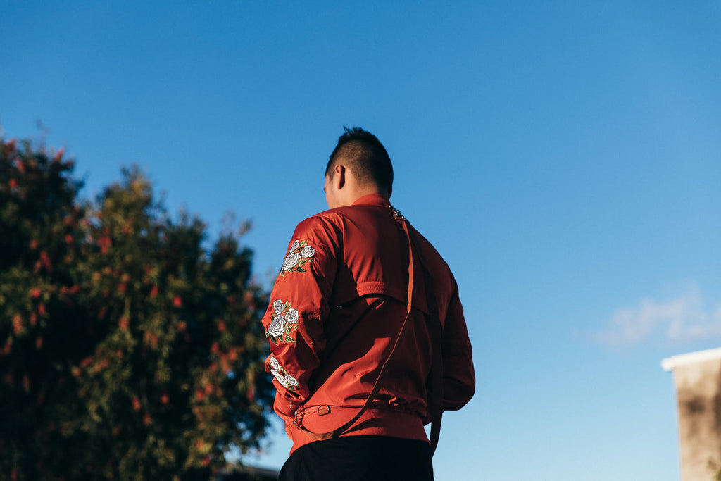 Lifted Anchors Rosa Bomber Jacket Red