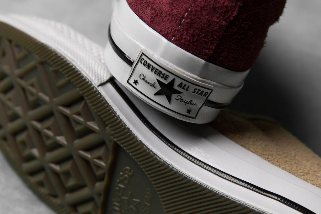 The Converse One Star Vintage Suede comes in khaki and burgundy colourways  and is complete with an EVA wedge for added comfort and care. bbf22cba3