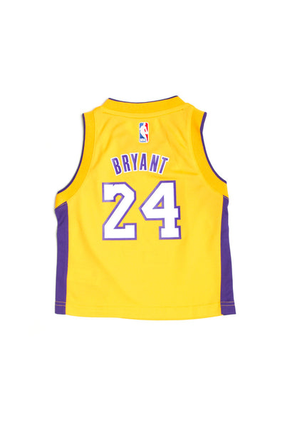 bca7f01bc2b Adidas Los Angeles Lakers Home Toddler Jersey Kobe Bryant #24 Gold –  Culture Kings