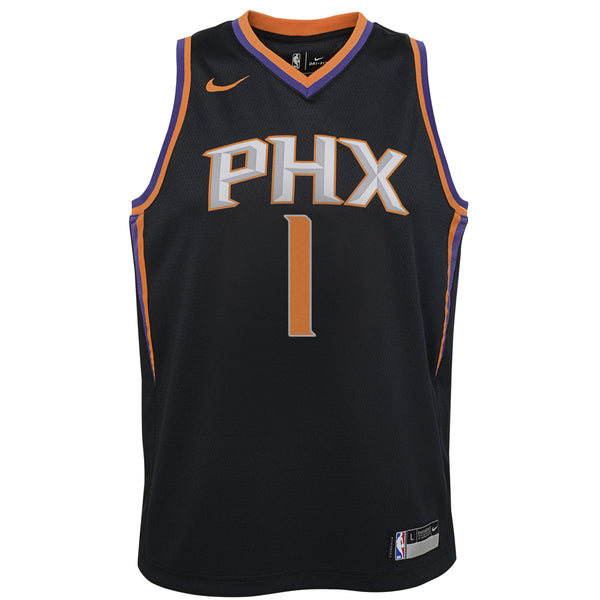 new style 4fd86 f30fd Nike Kids Phoenix Suns Devin Booker #1 Statement Swingman NBA Jersey Black