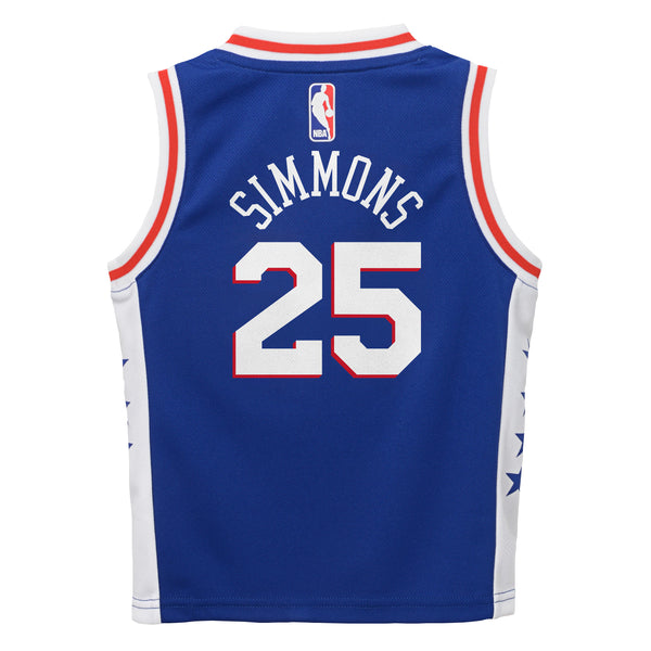 san francisco b2c32 e463e Nike Infant Philadelphia 76ers Ben Simmons #25 Icon Replica NBA Jersey Blue